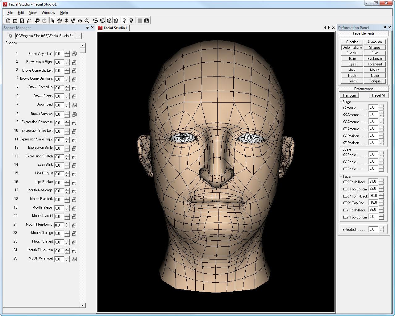 Facial Studio (Windows Edition): 3D head modeling software